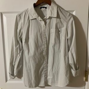 Tommy Hilfiger White Button-Down Blouse Size S